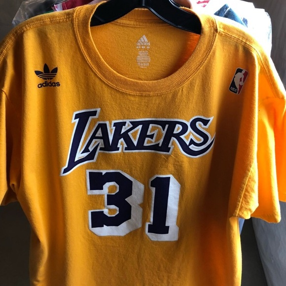 6c424689628 adidas Shirts | Ss Tee Large Lakers Kurt Rambis Home | Poshmark